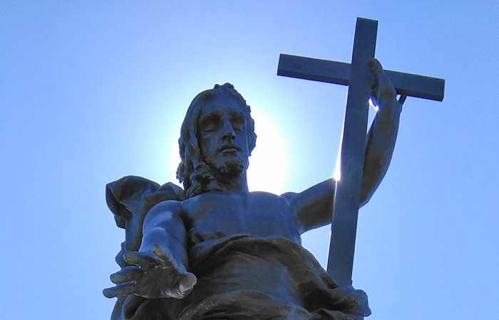The statue of Redeemer in Nuoro